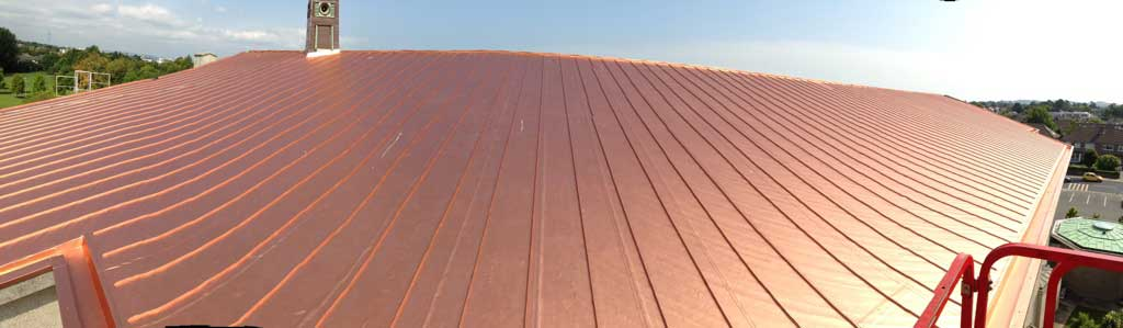 Copper Finish Roof in Blackrock